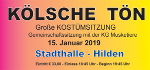 Kölsche Tön - Große Kostümsitzung - Gemeinschaftssitzung @ Stadthalle Hilden